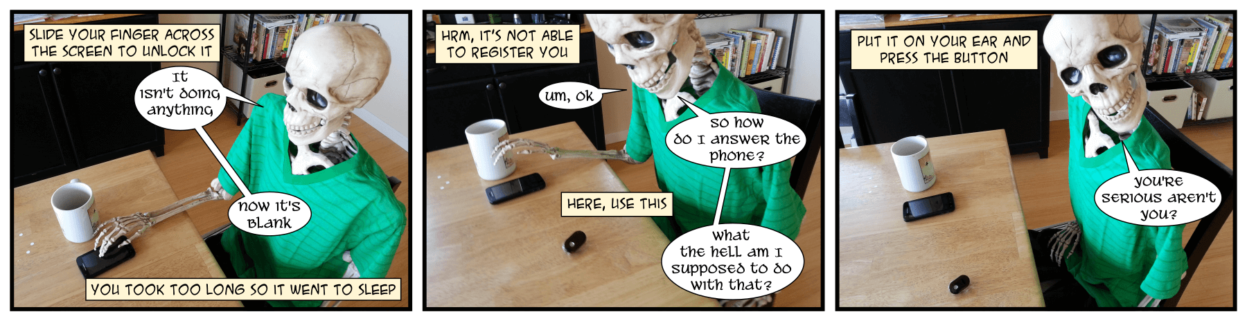 Once again, the phone has stopped ringing. I wonder what it's like to not be a slave to the phone ringing.