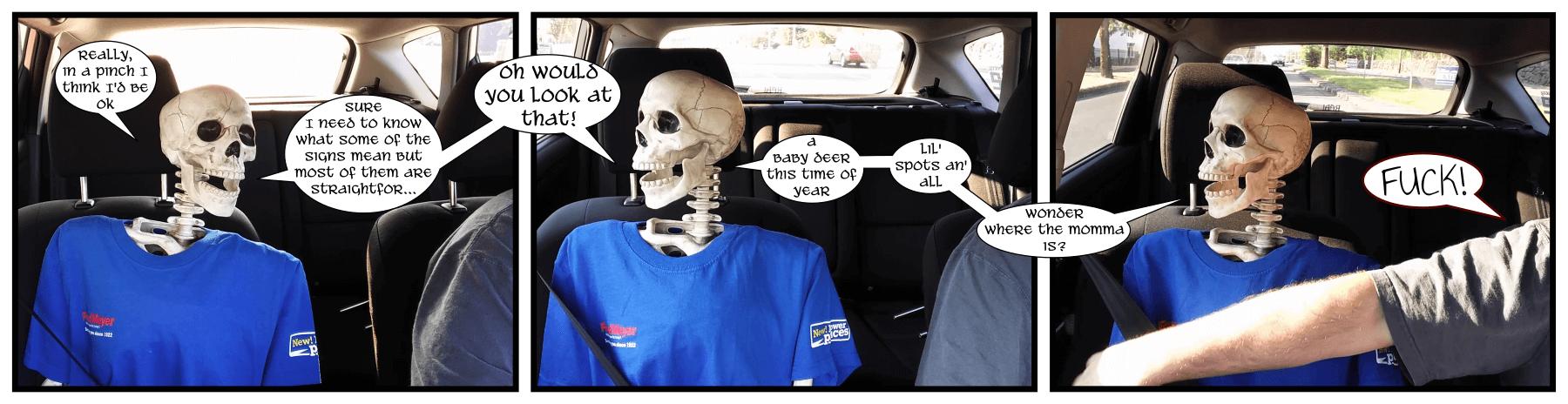 Magic seat belt arm power activate!